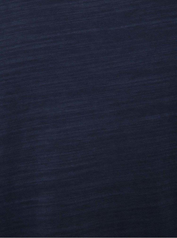 Tricou albastru melanj Selected Homme Dan