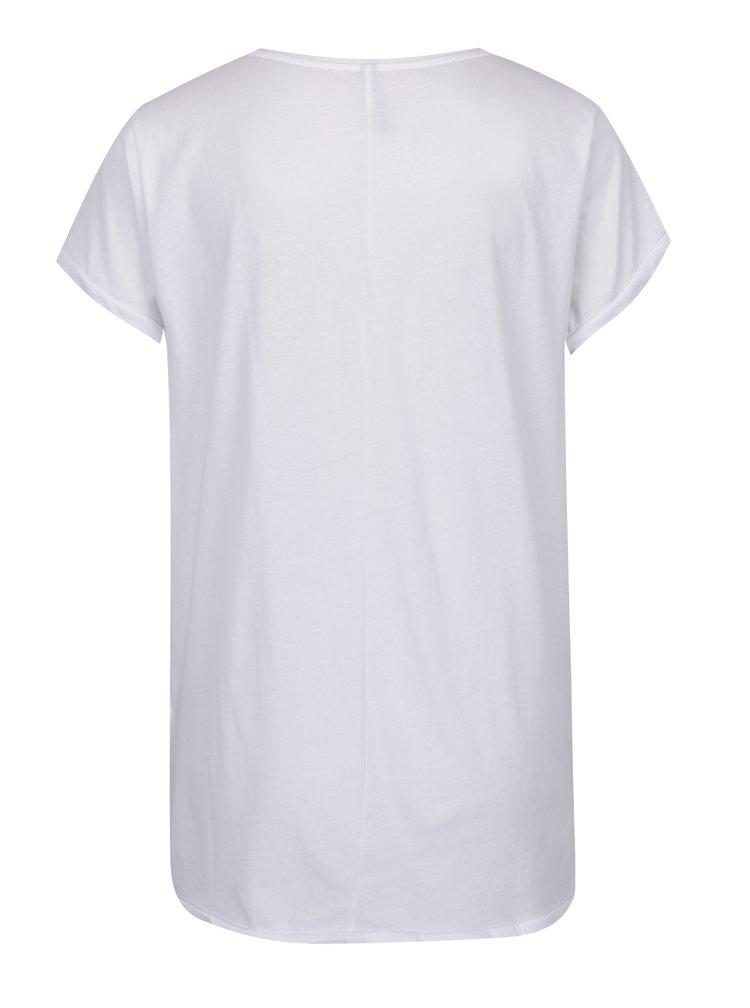 Bílé tričko s krátkým rukávem a nášivkami YAYA