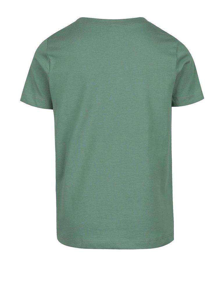 Zelené klučičí triko s potiskem Victorhox
