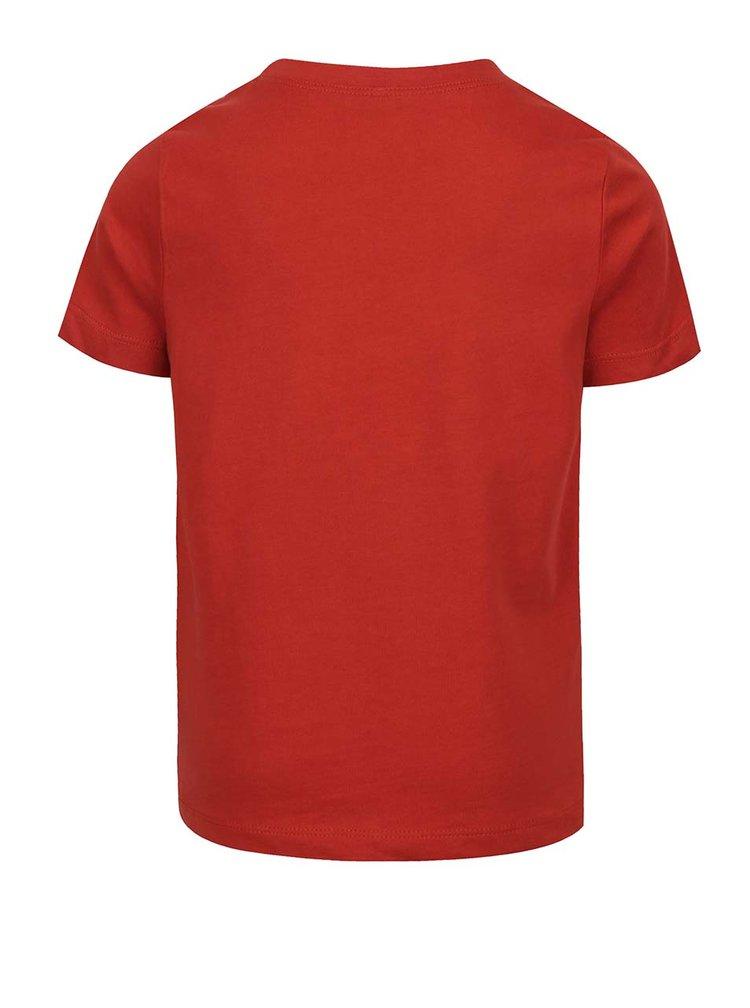Červené klučičí triko s potiskem Victorhox