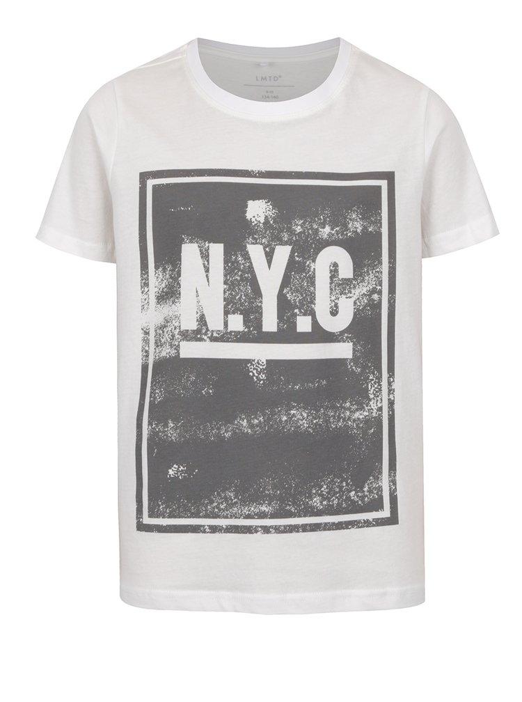 Krémové klučičí triko s šedým potiskem name it Olando