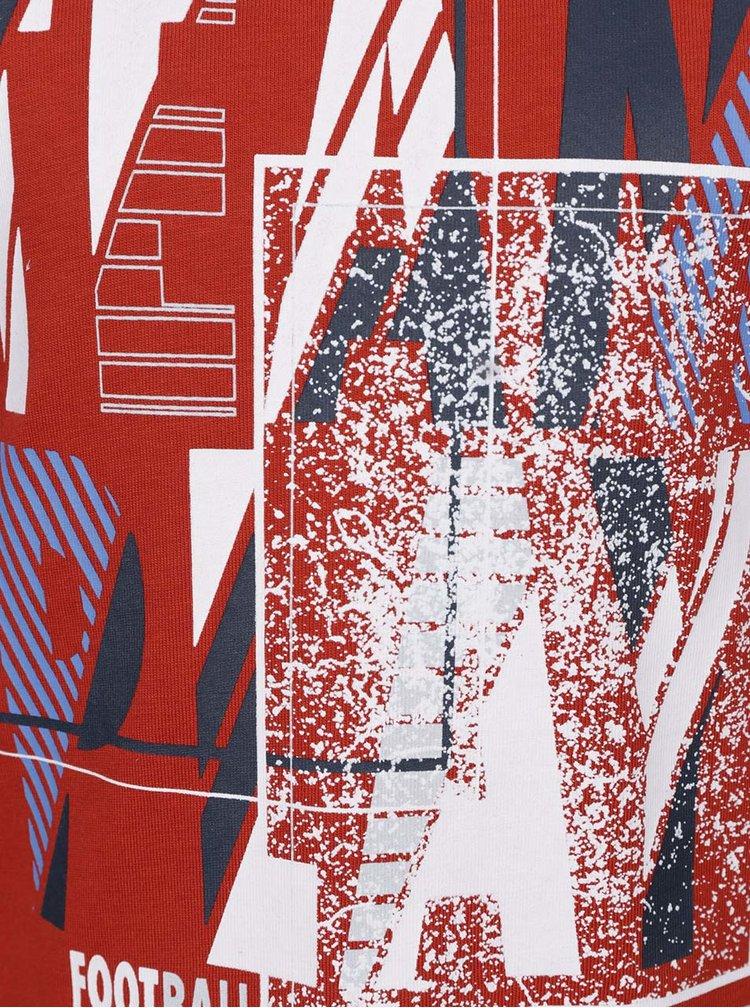 Červené klučičí triko s dlouhým rukávem name it Victorhox