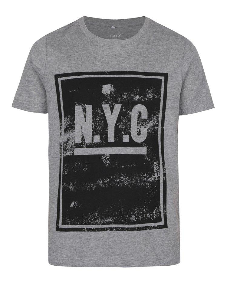 Tricou gri cu print pentru băieți name it Olando
