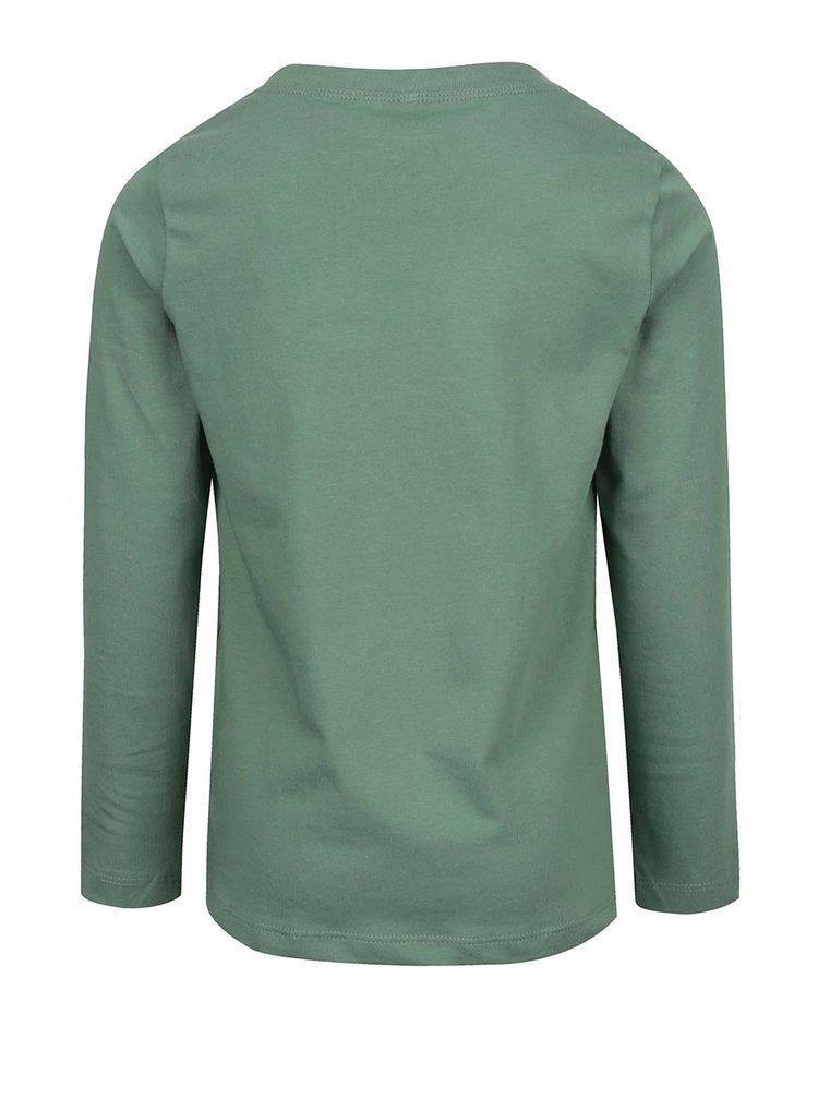 Zelené klučičí triko s dlouhým rukávem name it Victorhox