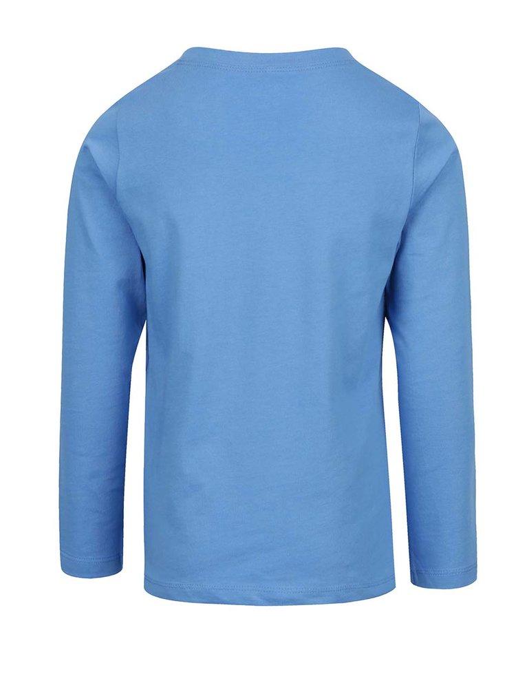 Modré klučičí triko s dlouhým rukávem name it Victorhox