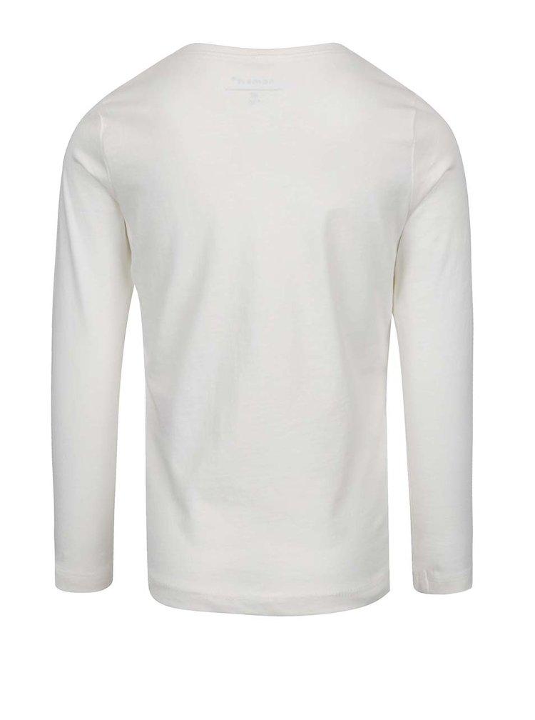 Bluză alb fildeș cu text print  pentru fete name it Veenhi