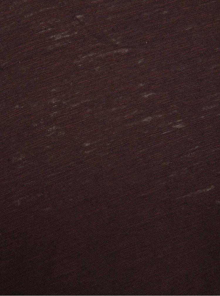 Vínové žíhané tričko ONLY & SONS Albert