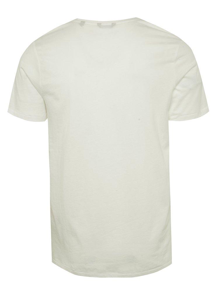 Krémové triko s potiskem ONLY & SONS Hamit