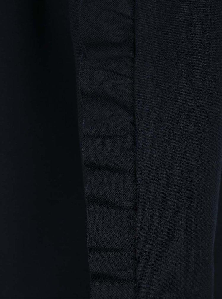 Rochie neagră cu volănașe pe mâneci VILA Hasa