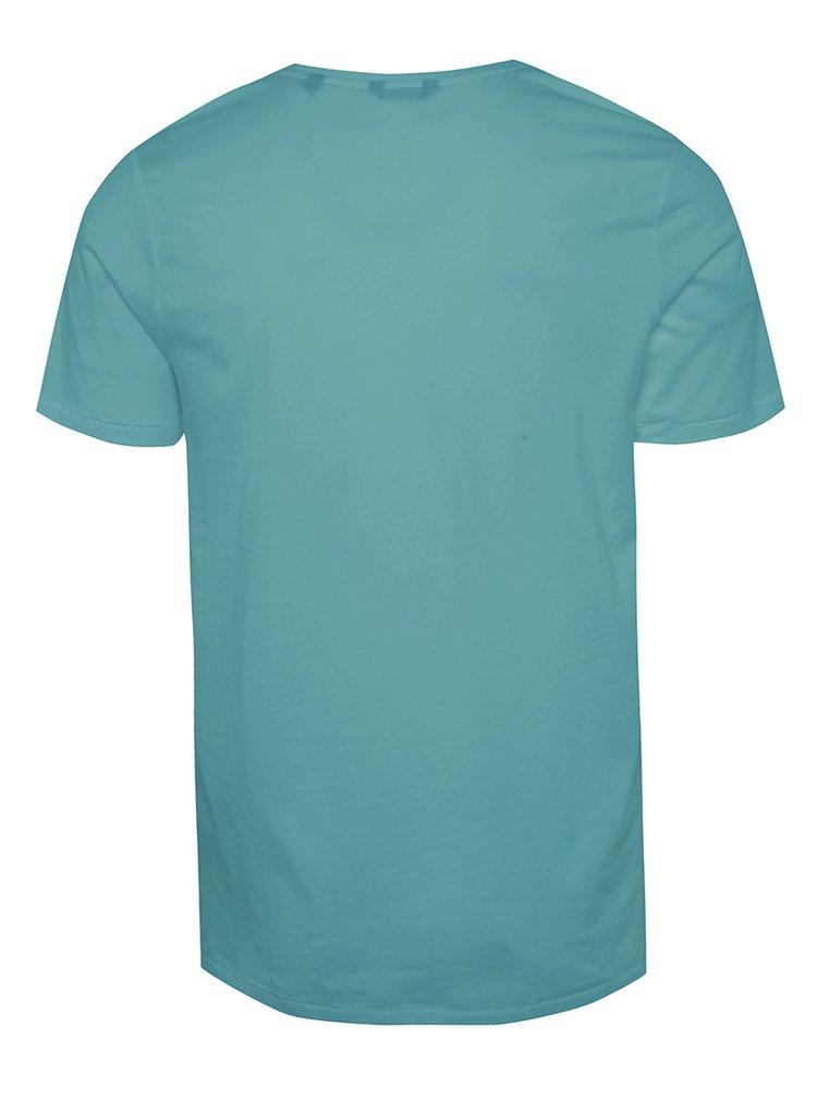 Světle modré triko s potiskem ONLY & SONS Sevel