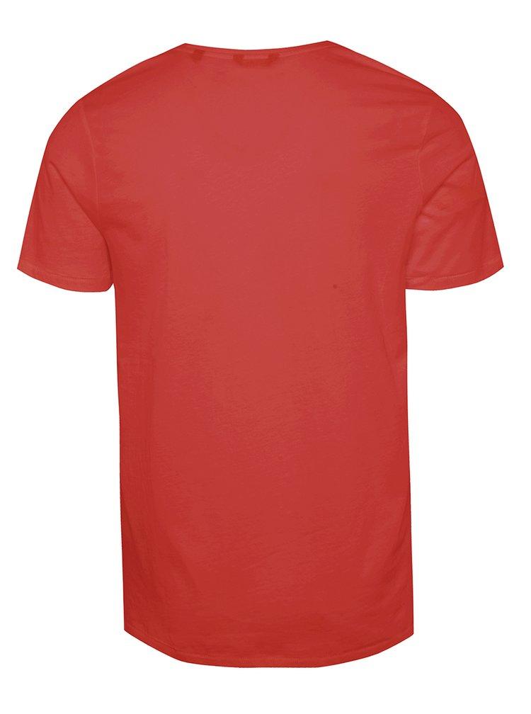 Červené triko s potiskem ONLY & SONS Sevel