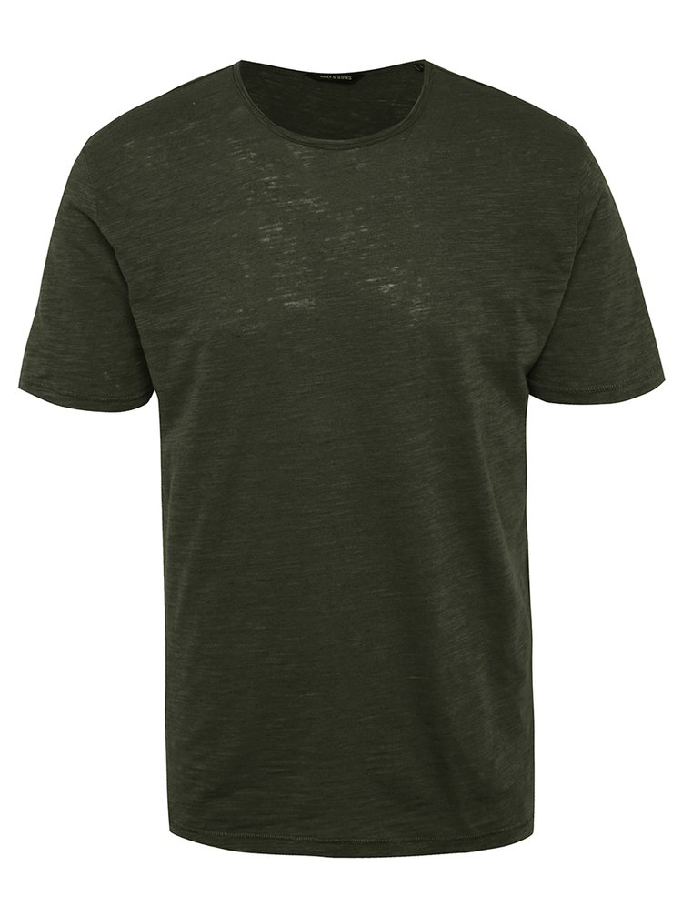 Tricou verde inchis melanj ONLY & SONS Albert