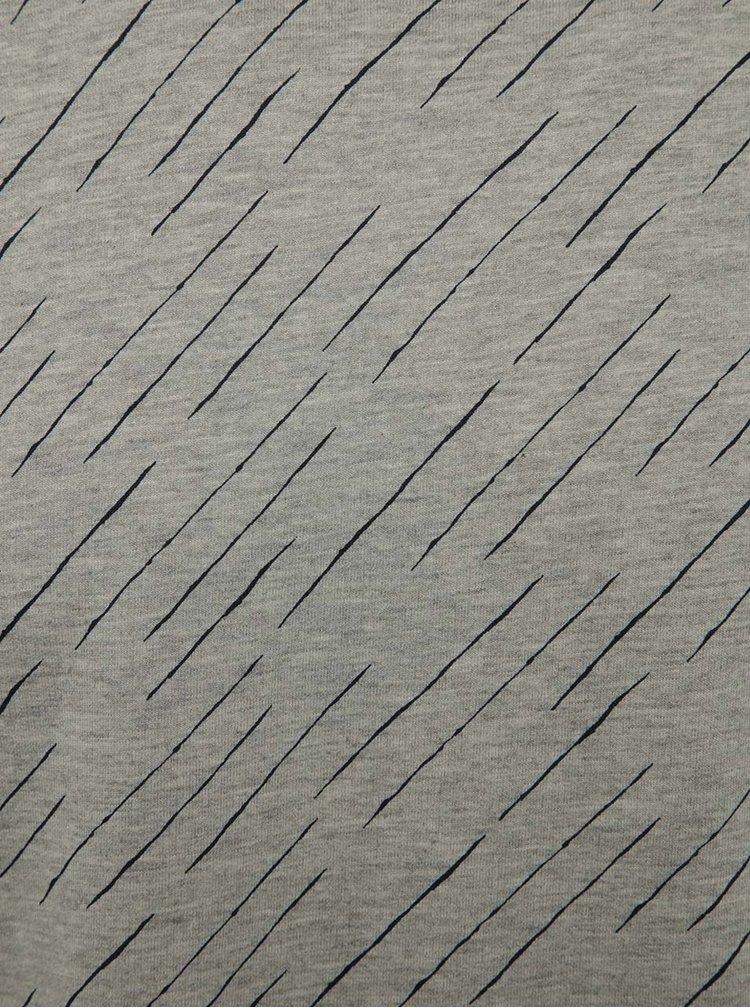 Šedé vzorované triko a dlouhým rukávem ONLY & SONS Van