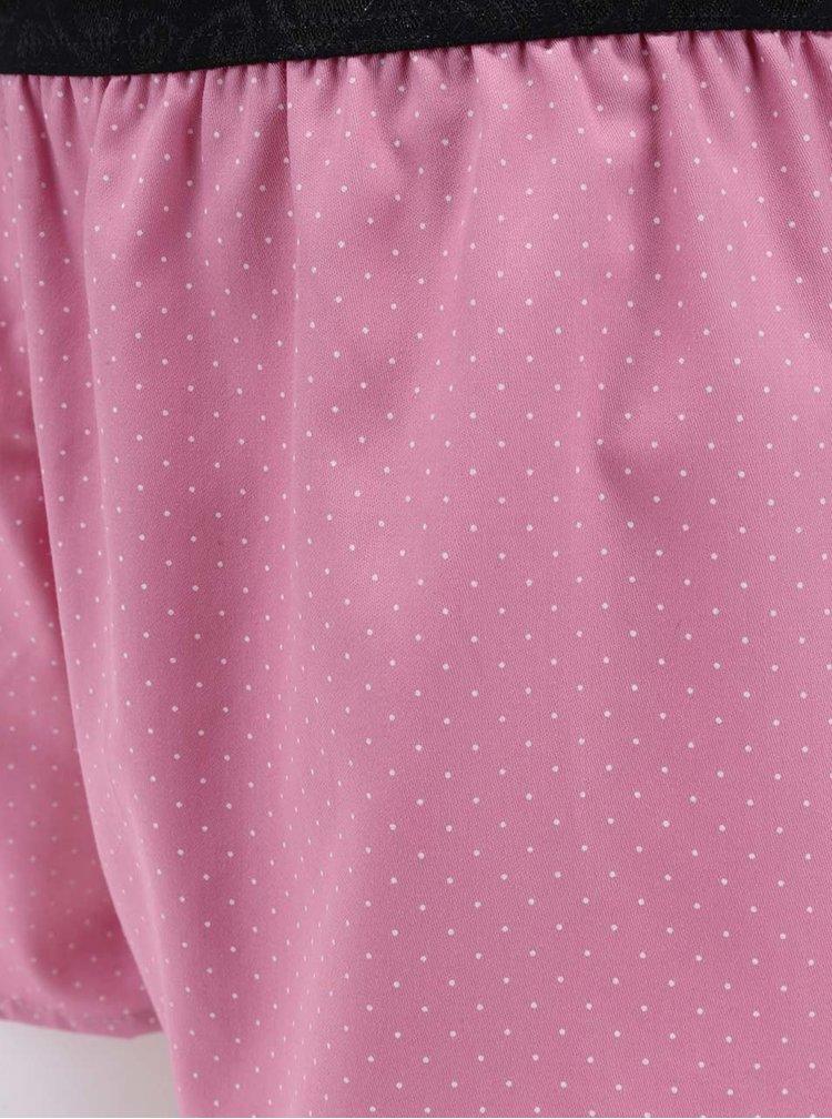 Růžové dámské puntíkované trenýrky Represent