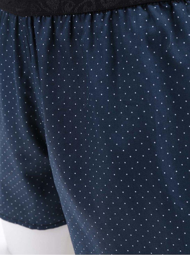 Modré dámské puntíkované trenýrky Represent