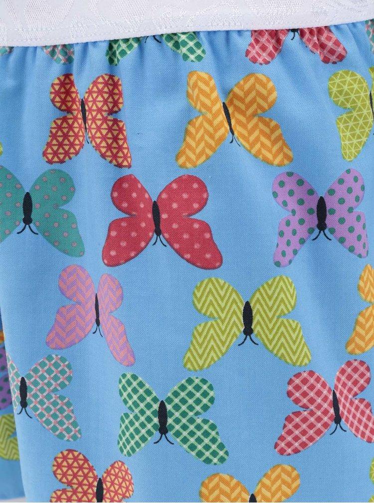 Modré dámské trenýrky s potiskem motýlů Represent