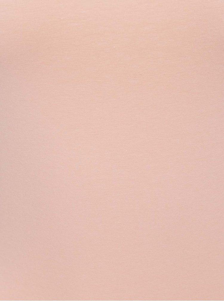Růžové basic tílko VERO MODA Maxi My