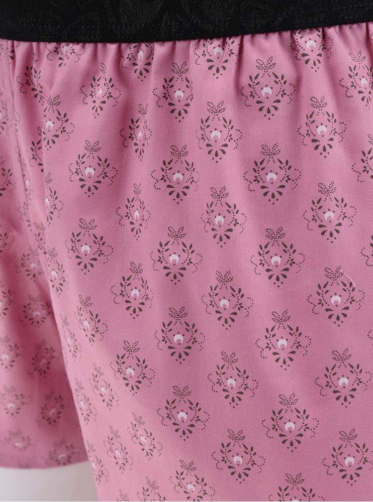 Růžové dámské vzorované trenýrky Represent