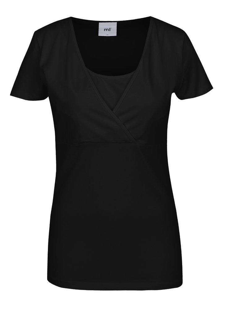Set negru&alb cu 2 tricouri cu decupaje pentru alaptat Mama.licious Lea