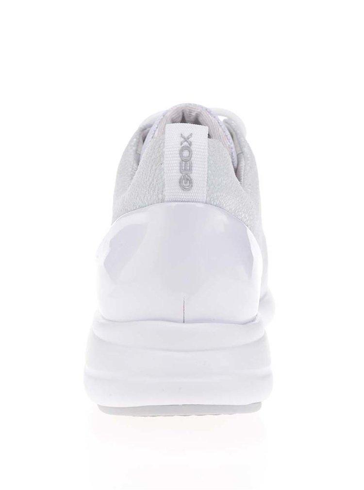 Bílé dámské kožené tenisky Geox Ophira