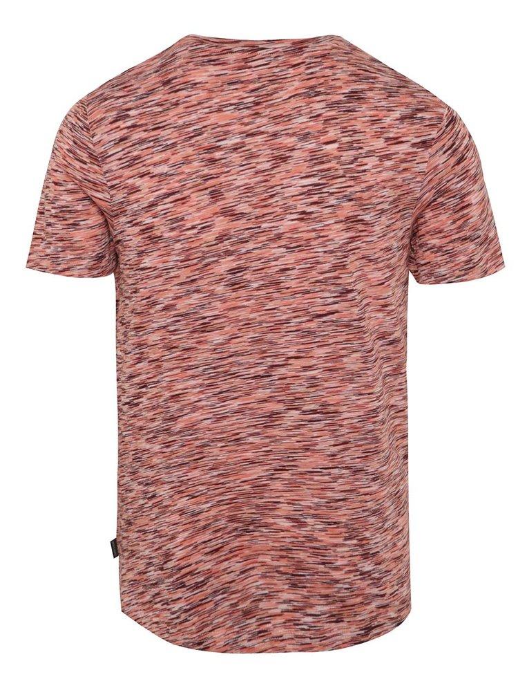 Červené žíhané triko Jack & Jones Hollywood