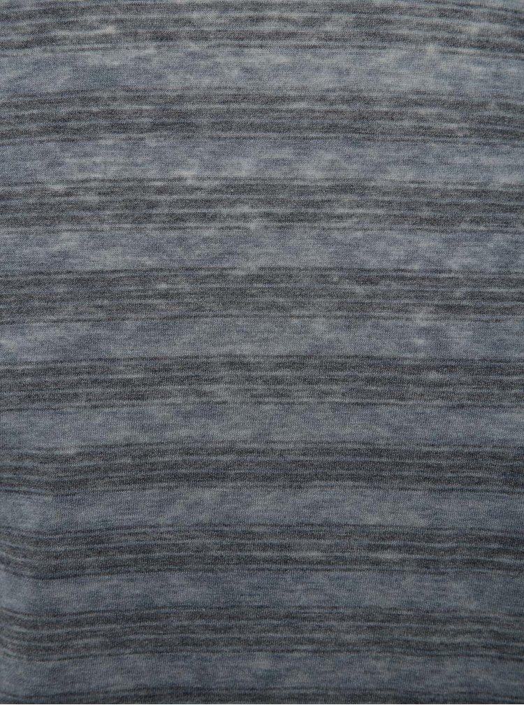 Modré pruhované triko Jack & Jones Burn