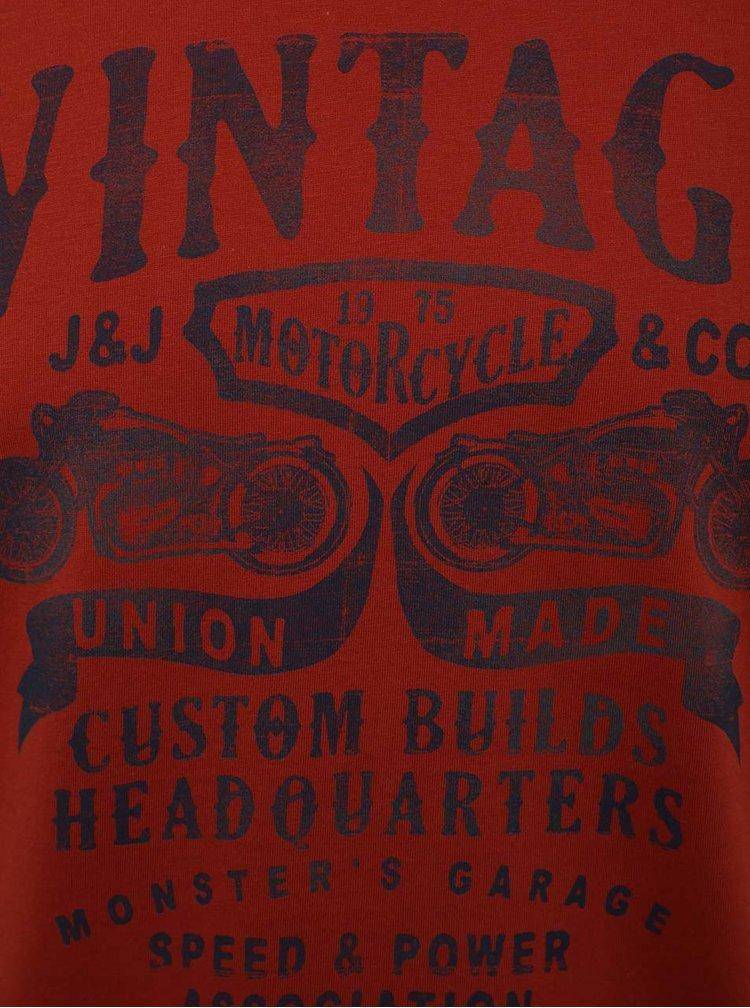 Červené triko s potiskem Jack & Jones Custom 6