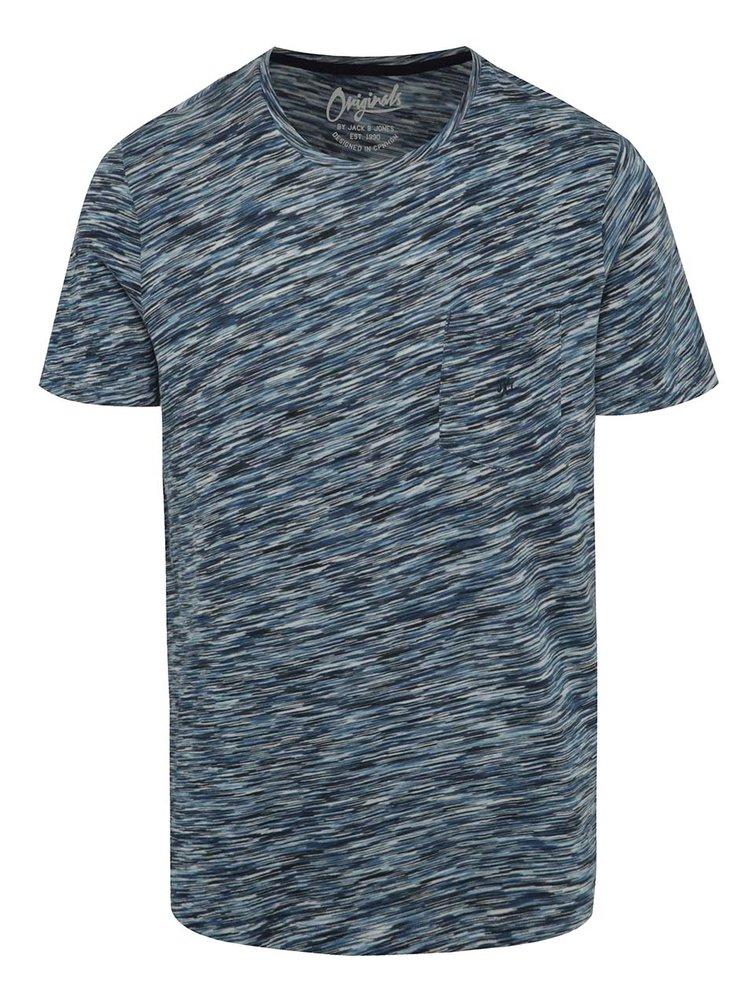 Tmavě modré žíhané triko Jack & Jones Hollywood