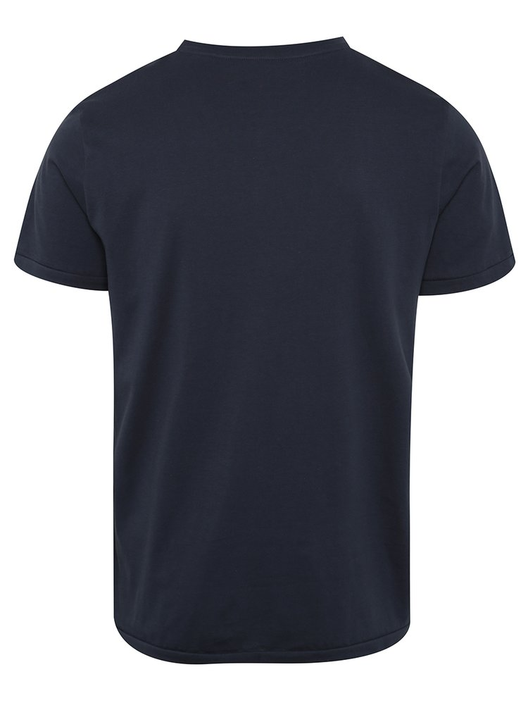 Tricou bleumarin Jack & Jones Custom 6 cu print
