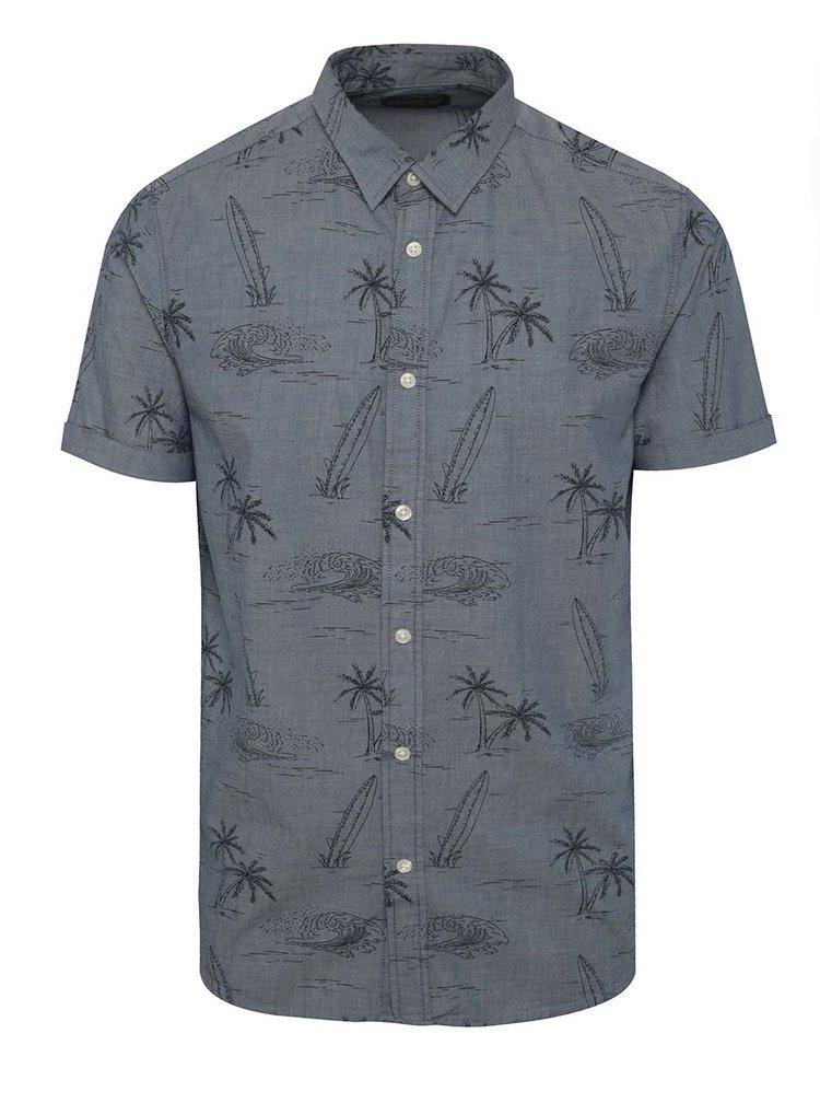 Tmavě modrá vzorovaná košile Jack & Jones Froth