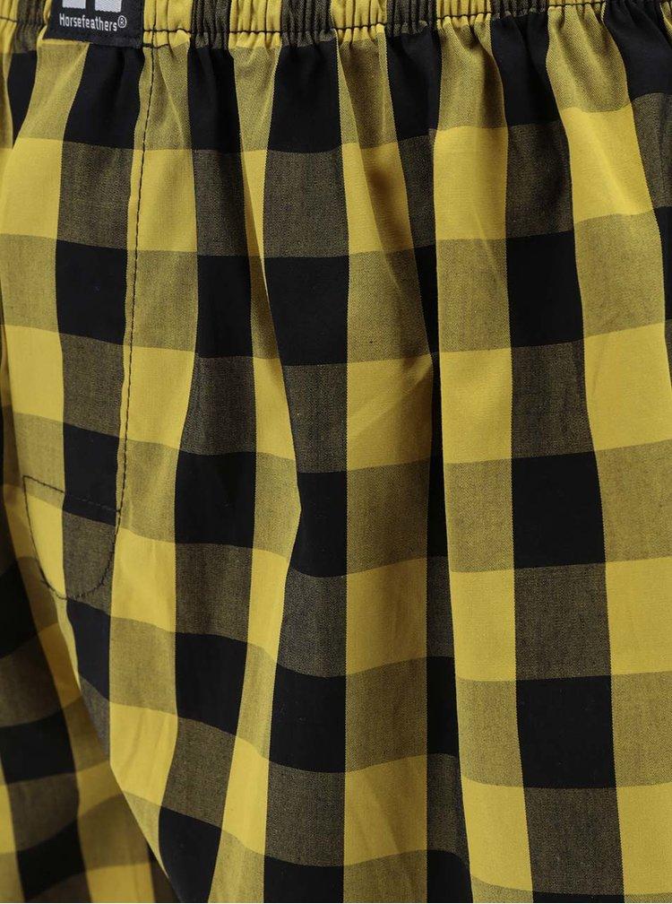 Černo-žluté pánské kostkované trenýrky Horsefeathers Sin