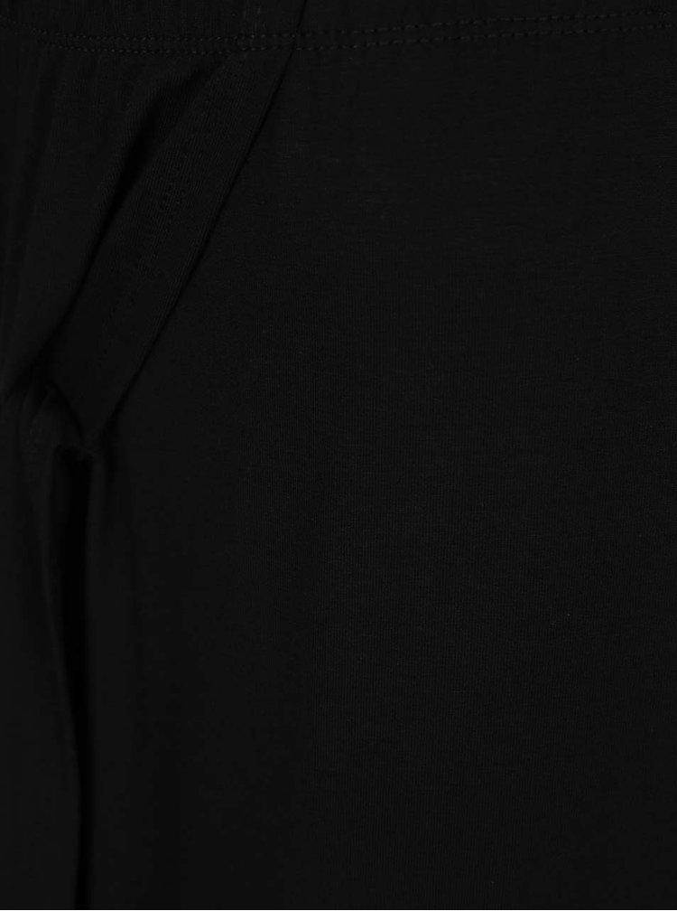 Fustă neagră ONLY Knot cu șliț