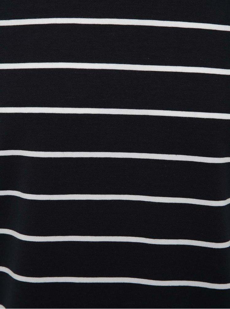 Tmavě modré pruhované triko Jack & Jones Pima
