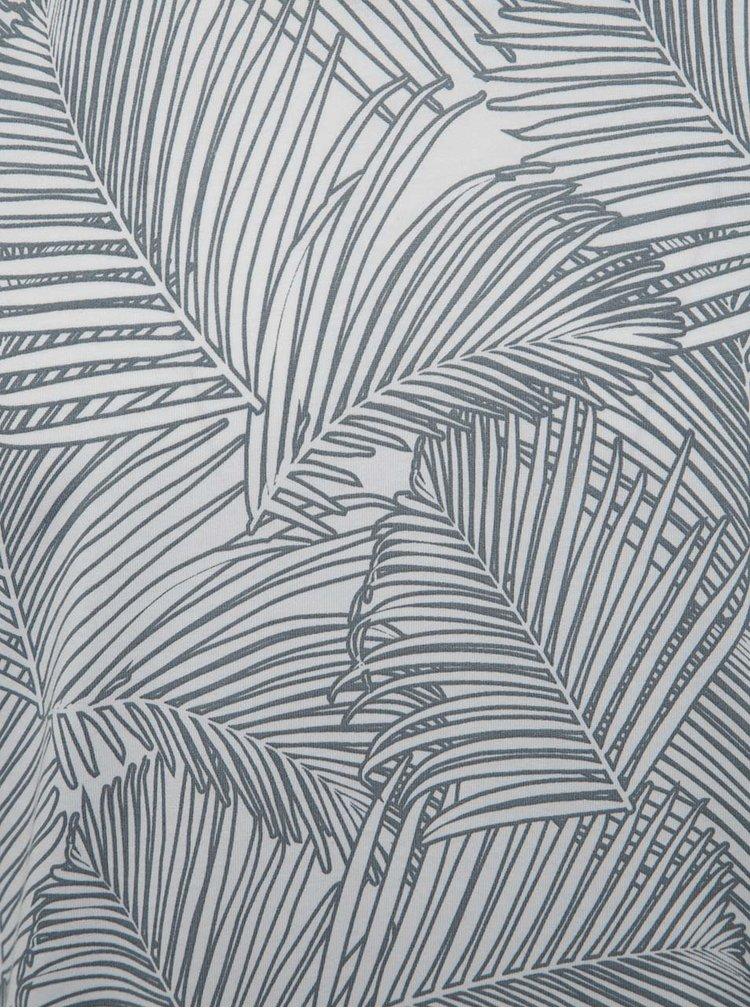 Sivo-biele vzorované tričko Jack & Jones Easton