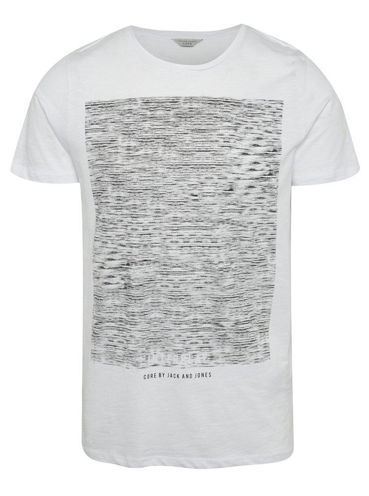 Bílé triko s potiskem Jack & Jones Mako