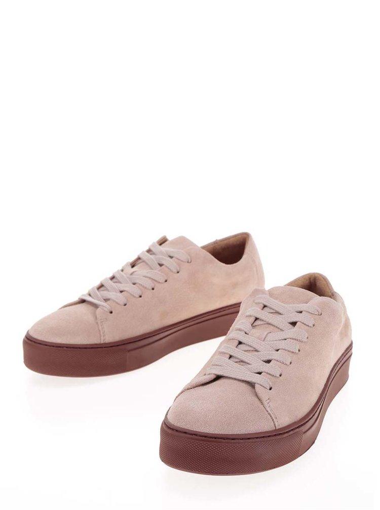 Pantofi sport roz prăfuit  Selected Femme Donna din piele întoarsă