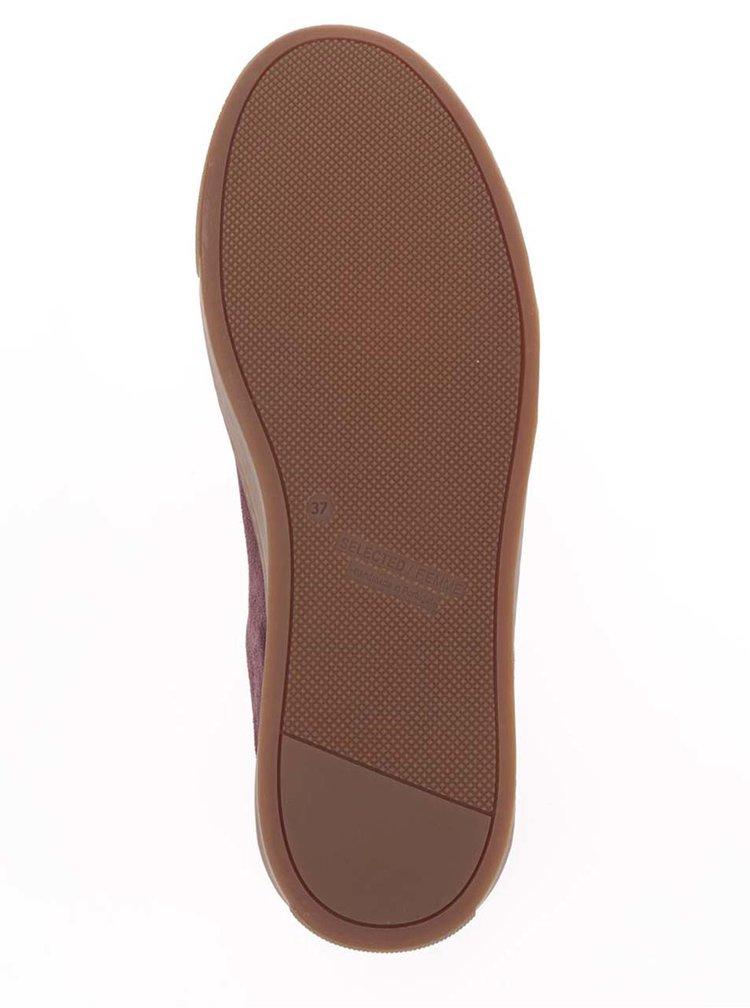 Pantofi sport vișinii Selected Femme Donna din piele întoarsă