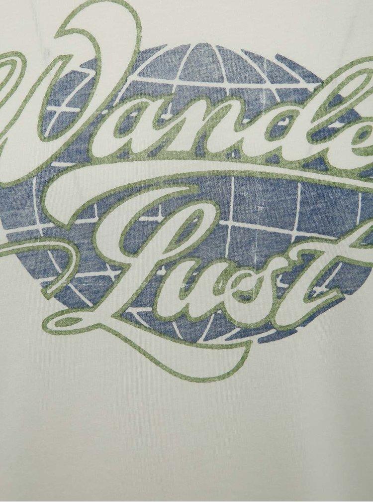 Krémové triko s potiskem Jack & Jones Custom 6