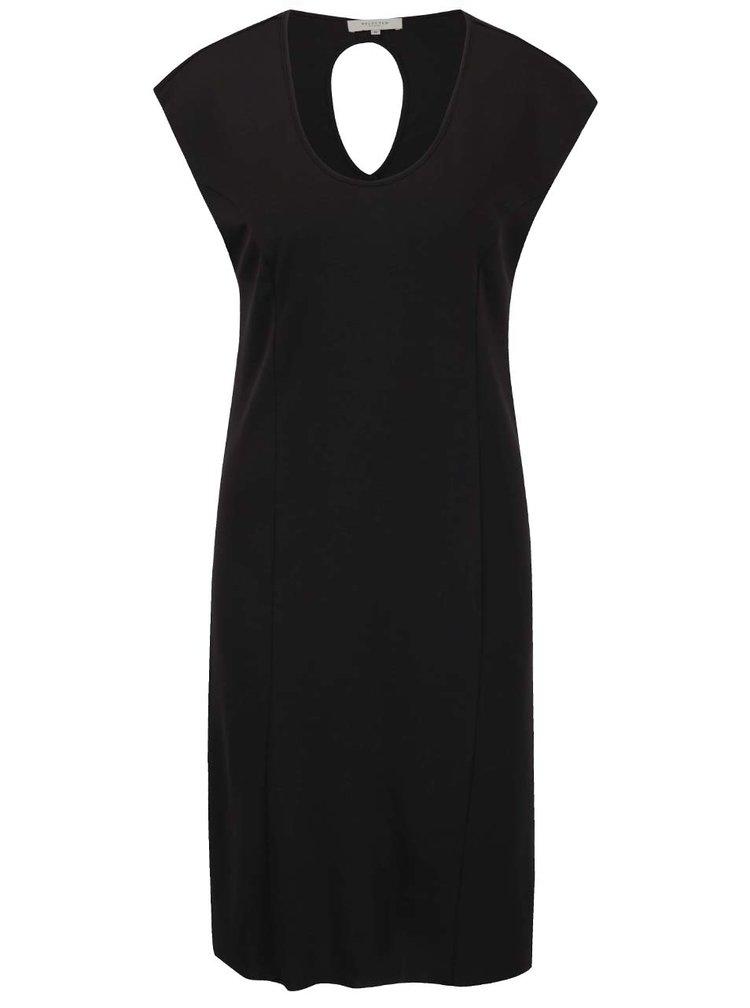 Černé šaty s průstřihem na zádech Selected Femme Emella