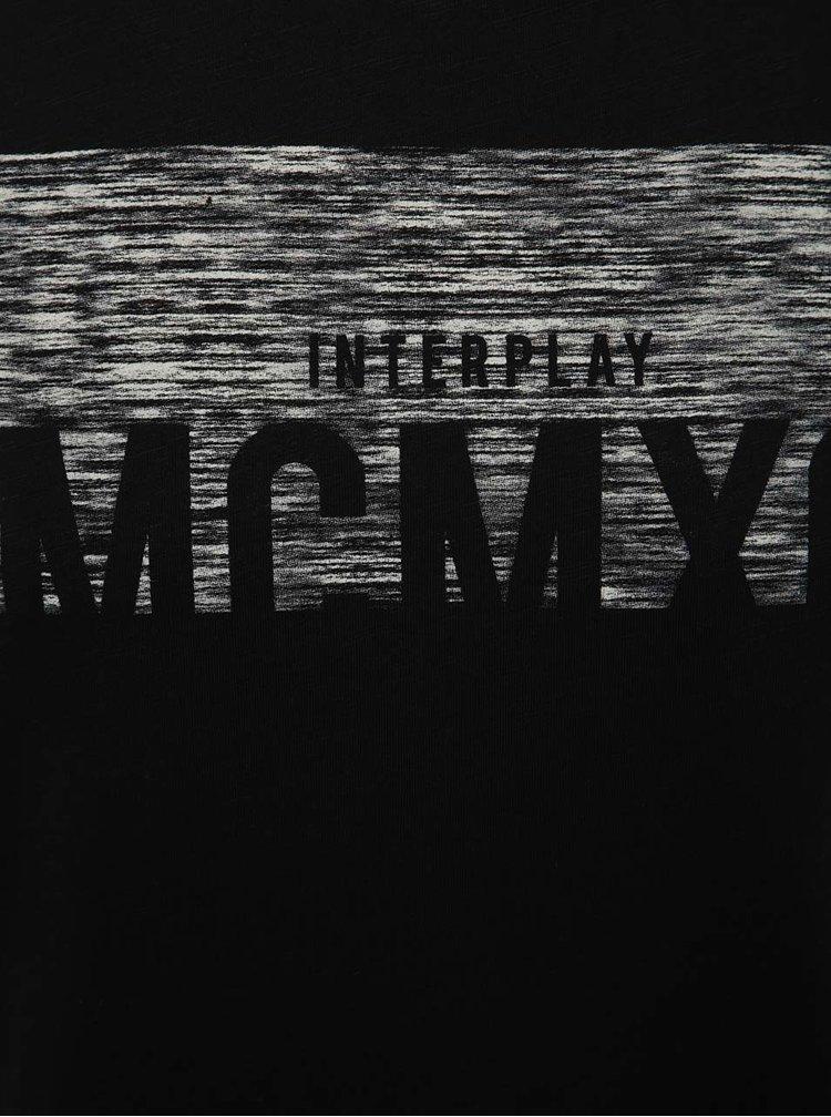Černé triko s potiskem Jack & Jones Mako