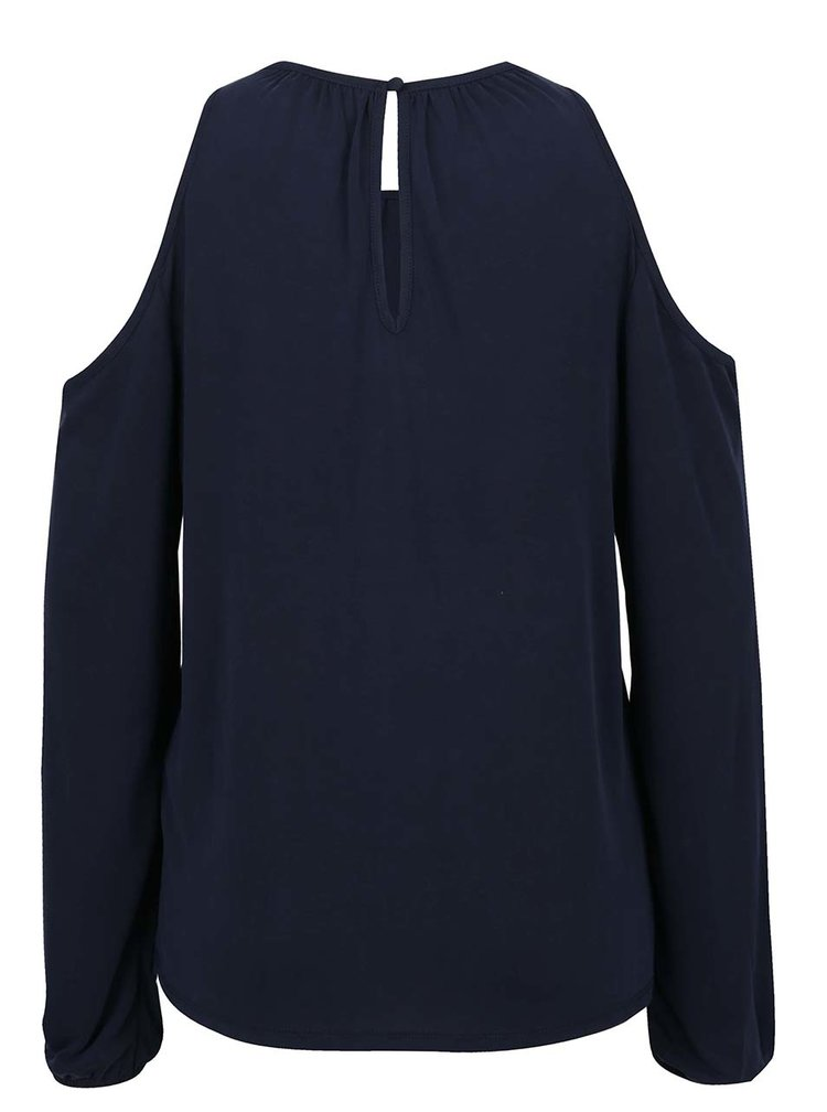 Bluza albastru inchis ONLY Tula cu decupal pe umeri