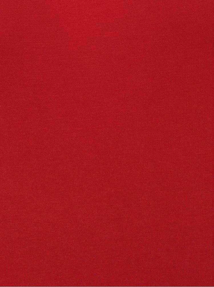 Červená halenka s průstřihy na ramenou ONLY Tula
