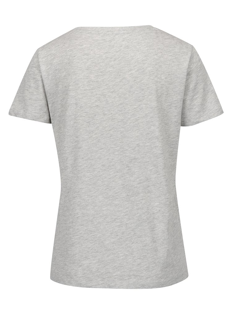 Šedé tričko s potiskem ONLY Luna