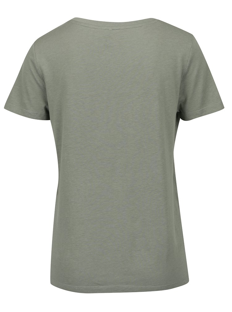 Khaki tričko s potiskem ONLY Luna