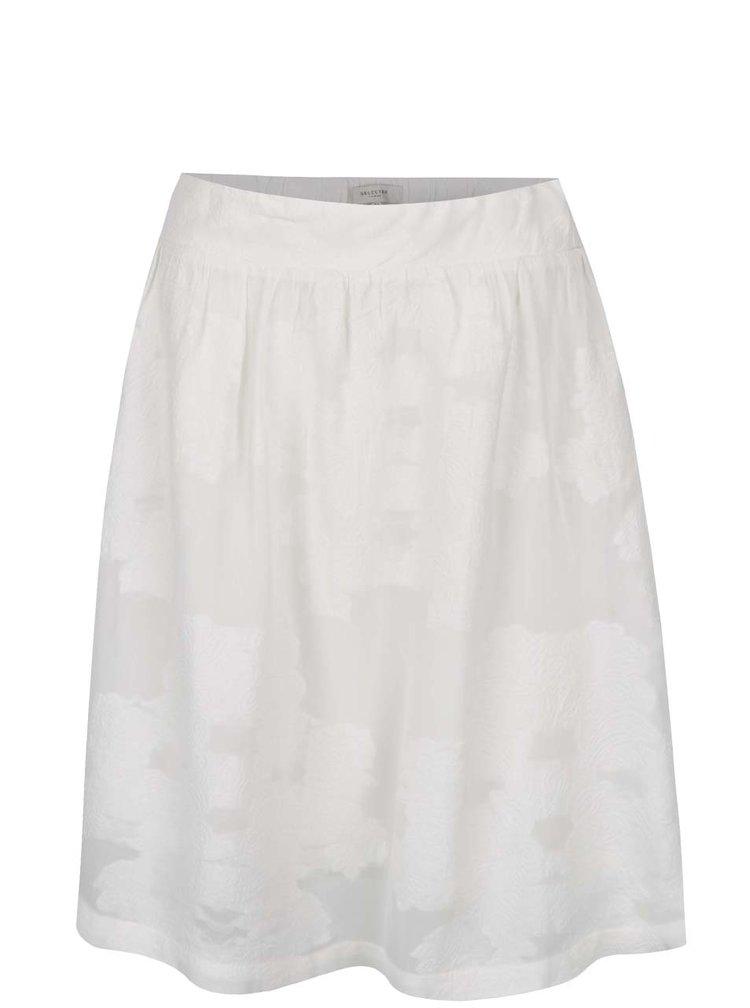 Krémová květovaná sukně Selected Femme Minastone