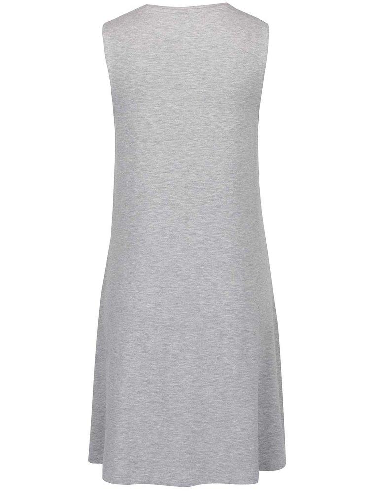 Světle šedé basic šaty bez rukávů ONLY Moster