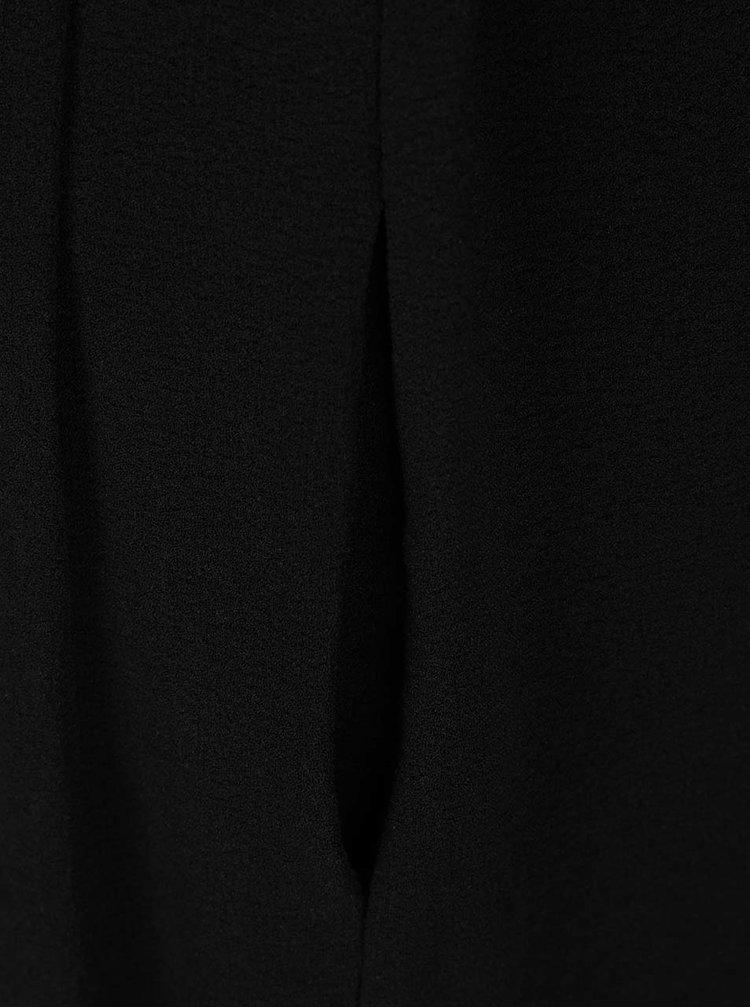 Černý overal s 3/4 rukávem Selected Femme Dalima