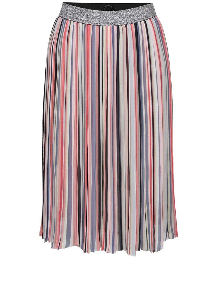 Polodlouhá sukně s barevnými pruhy ONLY Rainbow
