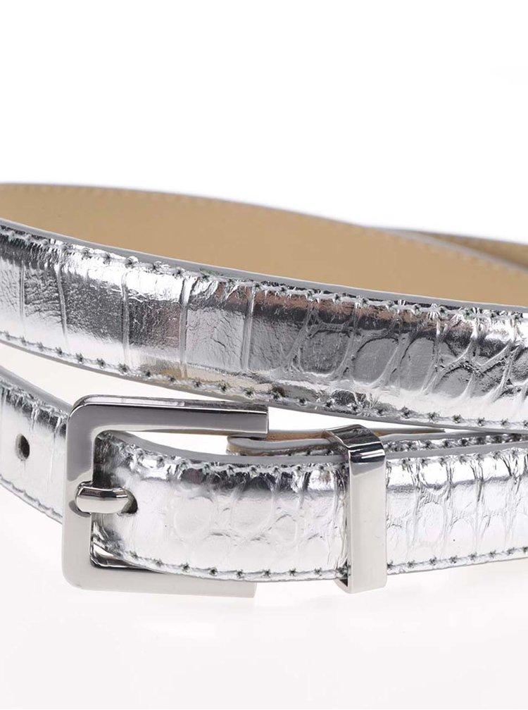 Pásek ve stříbrné barvě Pieces Emily