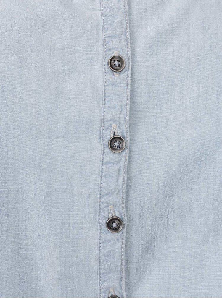 Světle modrý krátký džínový overal s knoflíky na zádech ONLY Nova